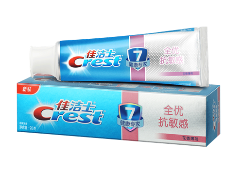 佳洁士健康专家全优抗敏感牙膏 亚锡氟阻隔冷热酸甜刺激,减轻酸痛