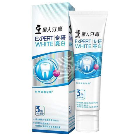 黑人专研亮白牙膏 美齿 清洁牙齿