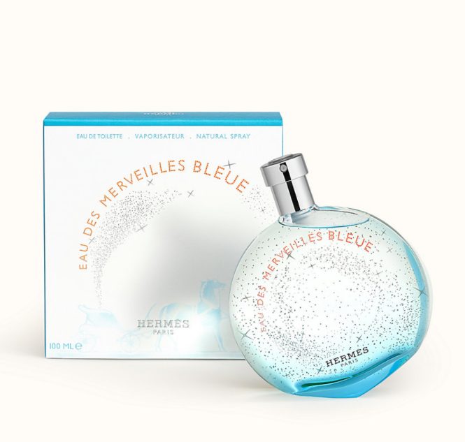 爱马仕蓝色橘彩星光淡香水 蕴含木香和龙涎香芬芳