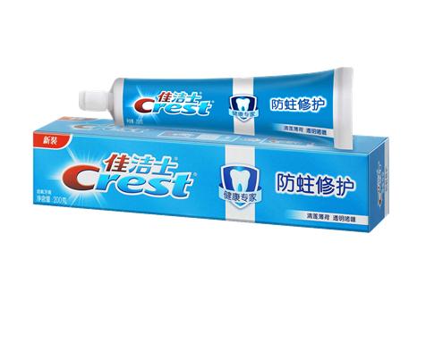 佳洁士健康专家防蛀修护牙膏清莲薄荷 4重防蛀,4重健齿